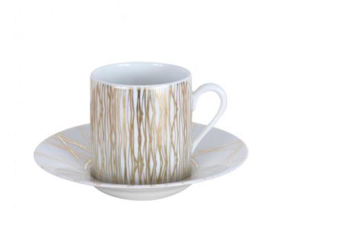 J. Seignolles Porcelaine  Fil D\'or Tea Cup and Saucer $175.00