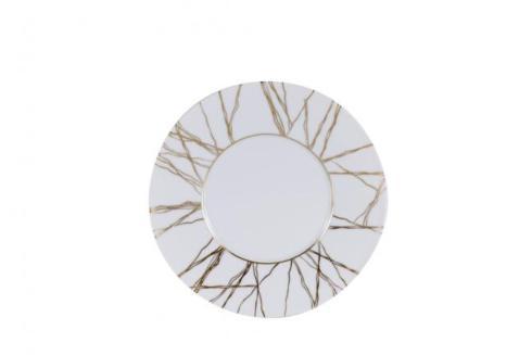 J. Seignolles Porcelaine  Fil D\'or Dessert Plate 8.25 $115.00