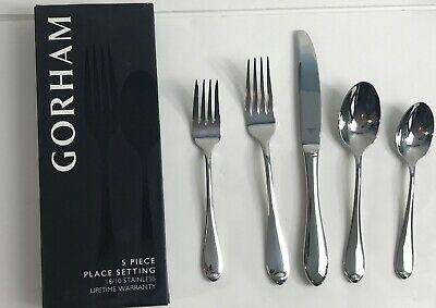 $49.95 Gorham Stainless Flatware Studio 5 Piece Place Setting