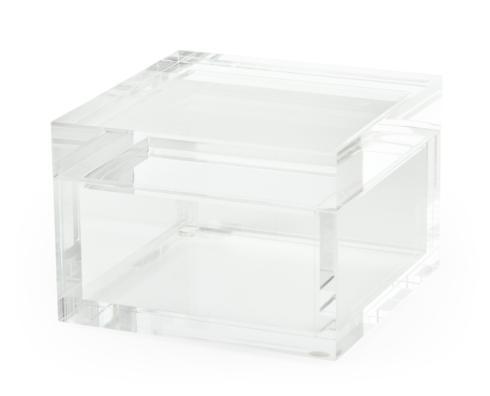 $45.00 Lucite Square Clear Box/ small