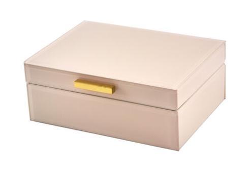 $80.00 Pink Jewelry Box, Gold Handle