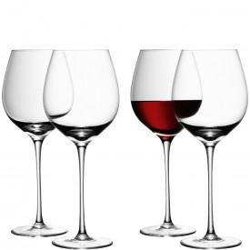 $100.00 Set of four clear red wine glasses