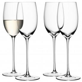 $90.00 Set of four clear white wine glasses