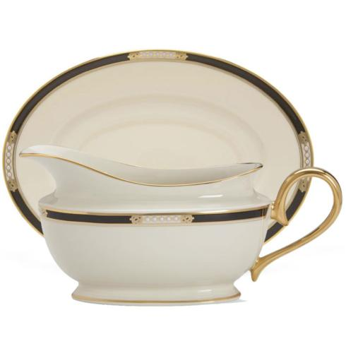 Lenox  Hancock/Presidential (Gold) Sauce Boat and Stand $201.95