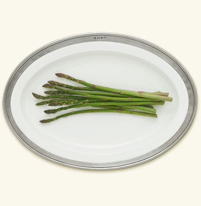 Match  Convivio White Small Oval Platter $227.00