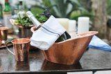 Sertodo Copper  Barware Nile Cradle Oval Ice Bucket $250.00