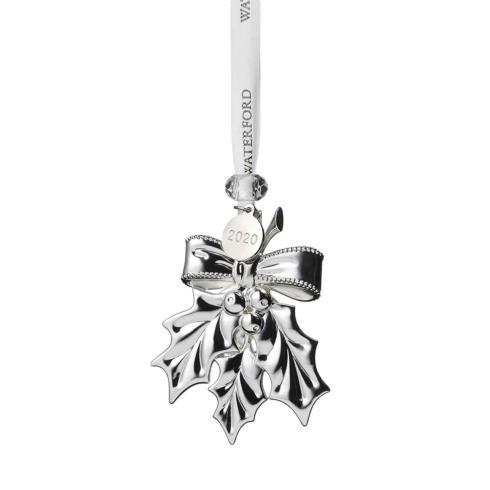 Zundel\'s Exclusives   Waterford Silver Holly Ornament $45.00