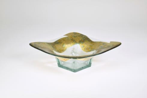 "Tamara Childs  Bowls 7"" Swirl Square Butterfly Glass $80.00"