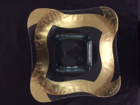 Tamara Childs  Bowls 13 inch slash square butterfly glass bowl $155.00