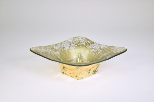 Tamara Childs  Bowls 7 inch Wabi Sabi square butterfly glass bowl $80.00
