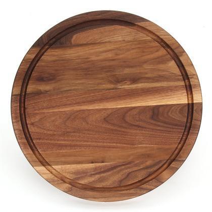 """BigWood Boards  Somerset 16"""" Round Walnut $155.00"""