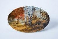 Zundel's Exclusives  The Brett Smith Sporting Art Collection Flush in Fall - 16 x 10 Oval Platter $158.00