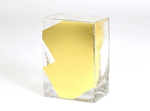 "Tamara Childs   4"" rectangular vase slash $35.00"