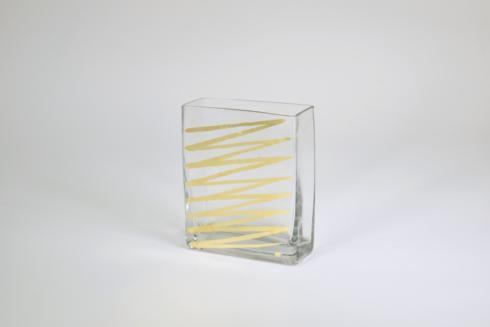 Tamara Childs  Vases 6 inch vase - gold - zig zag $48.00