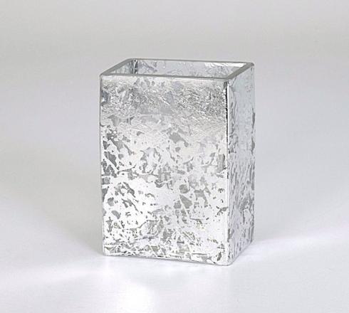 """$35.00 4"""" rectangular vase wabi sabi silver"""