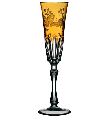 Amber Champagne Flute