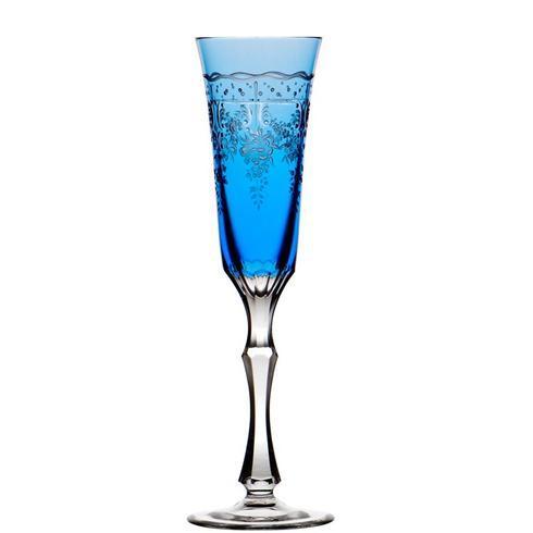 Sky Blue Champagne Flute