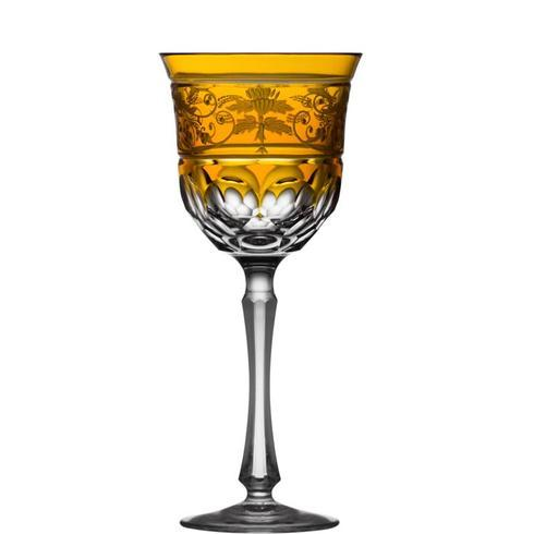 Amber Water Glass