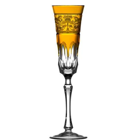 Amber Champagne Flute