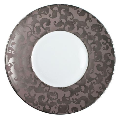 French Cancan Platinum Incrustation Dinner Plate