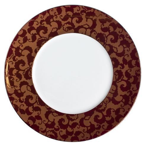 French Cancan Red Gold Incrustation Charger