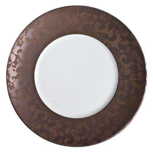 French Cancan Copper Brown Incrustation Charger