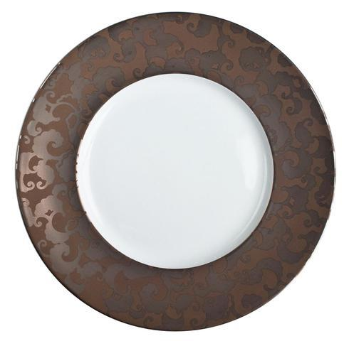 French Cancan Copper Brown Incrustation Dinner Plate