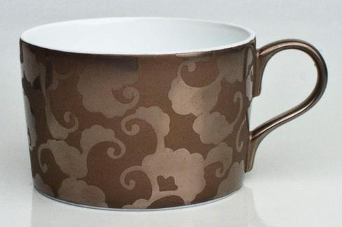 French Cancan Copper Brown Incrustation Straight Tea Cup