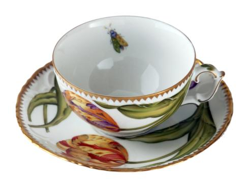 Double Tulips Cup & Saucer