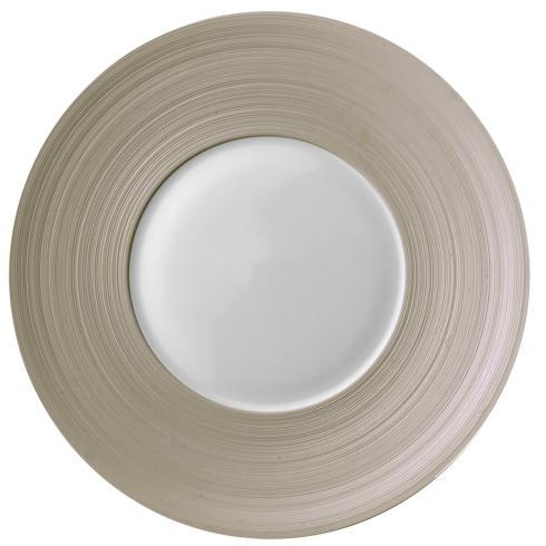 Hemisphere Green Beige Large Center Salad Plate