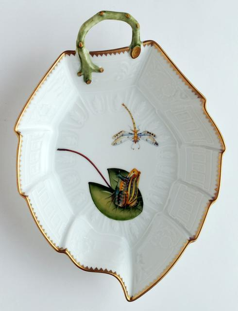 Frog On Lily Pad Leaf Dish