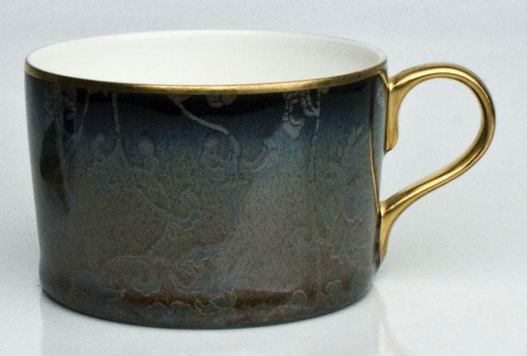 English Rose Taupe Gold Tea Cup