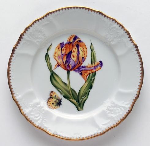 Purple & Yellow Tulip Salad Plate