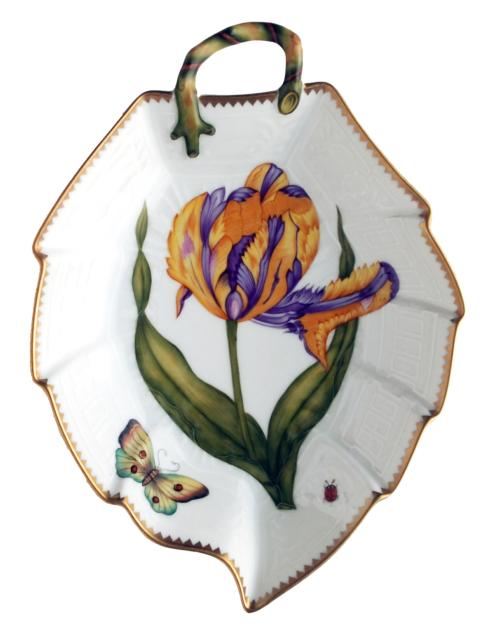 Purple & Yellow Tulip Leaf Dish