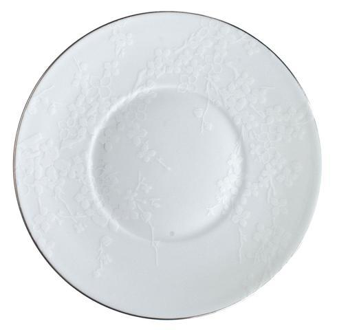 Clematites White on White Bronze Finition Horizon Bread & Butter Plate