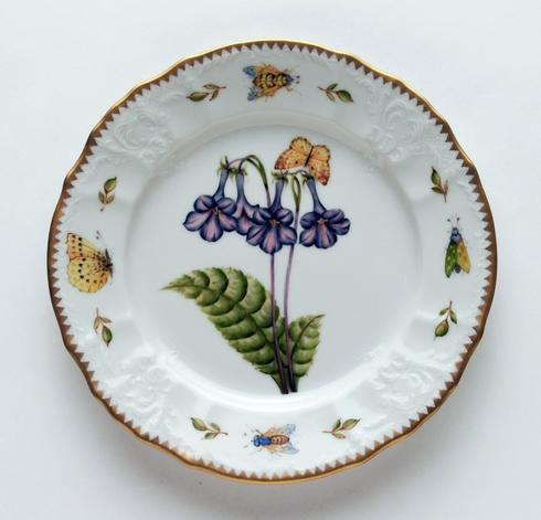 Purple Flower Salad Plate