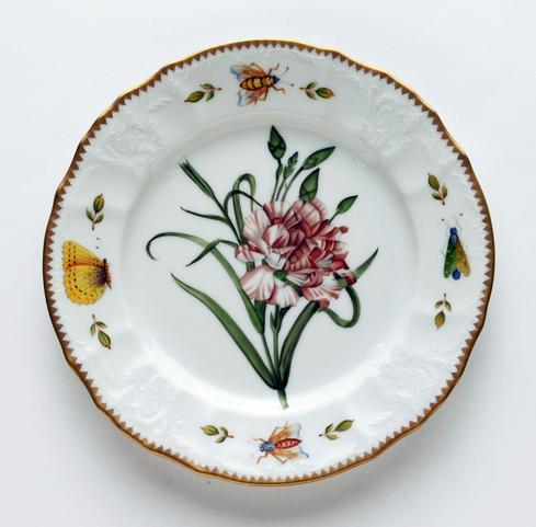 Pink Carnation Salad Plate