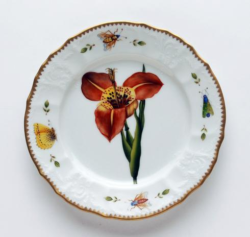 Red Flower Salad Plate