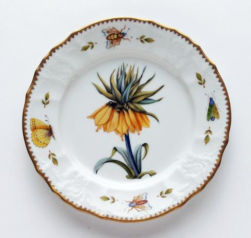 Yellow Flower Salad Plate