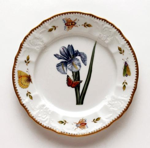 Blue Iris Salad Plate