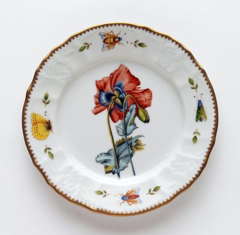 Red Poppy Salad Plate
