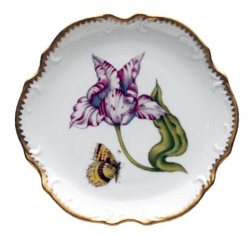 Pink & White Tulip Bread & Butter Plate