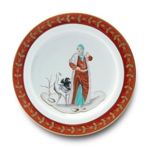 Woman with Ostrich Buffet Plate