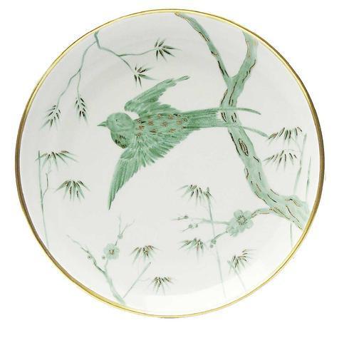 Green Bird Dinner Plate