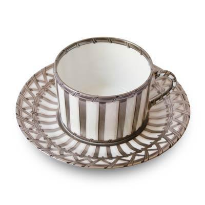 Vannerie Platinum Tea Cup & Saucer