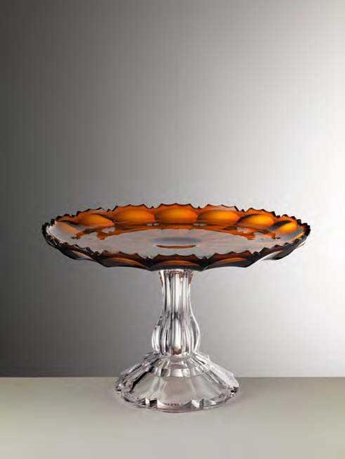 Amber Cake Plate
