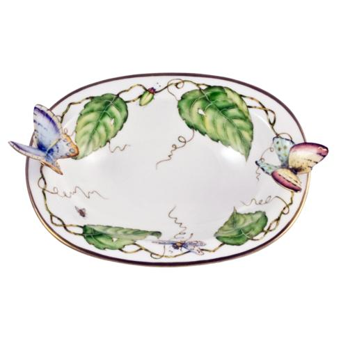 Oval Dish with Butterflies