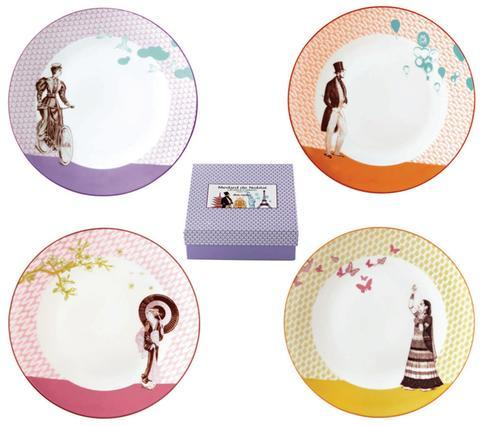 Gift Box Of 4 Assorted Dessert Plates
