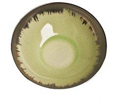 Spearmint Cereal Bowl with Platinum Brushstroke