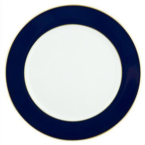 Cobalt Band Service Plate With Gold Edge